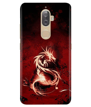 Red Chinese Dragon Lenovo K8 Plus Cover