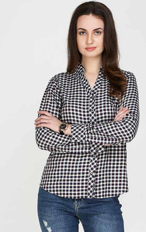 Multi Checked Casual Shirt For Women