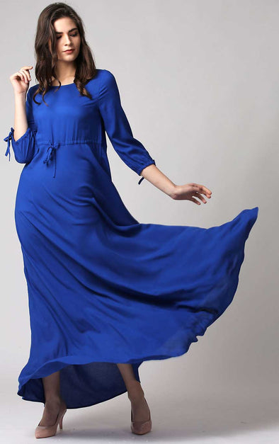 Navy Blue Long Dress For Women