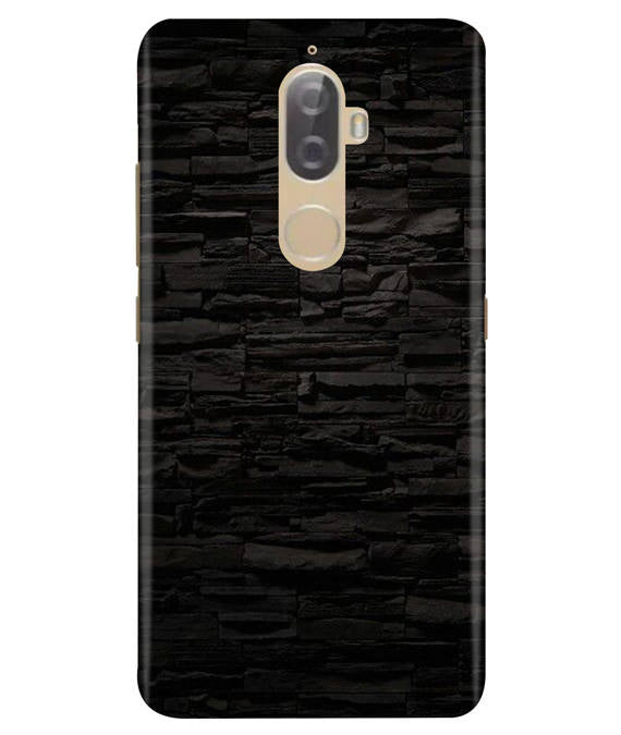 Black Stone Wall Lenovo K8 Plus Cover