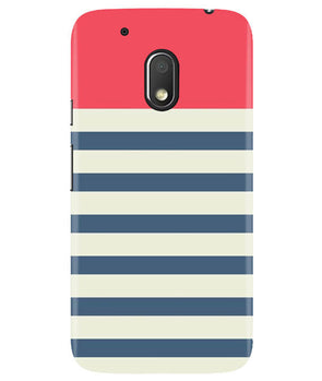 Cream Stripes Moto G4 Play Cover
