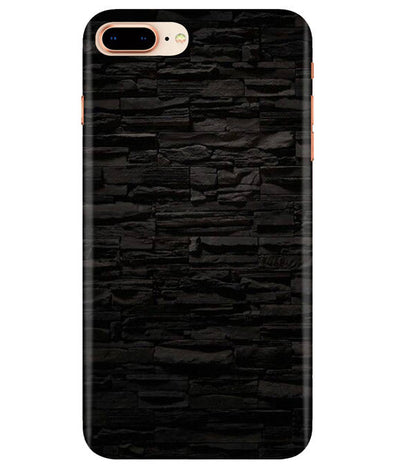 Black Stone Wall iPhONE 8Plus Cover