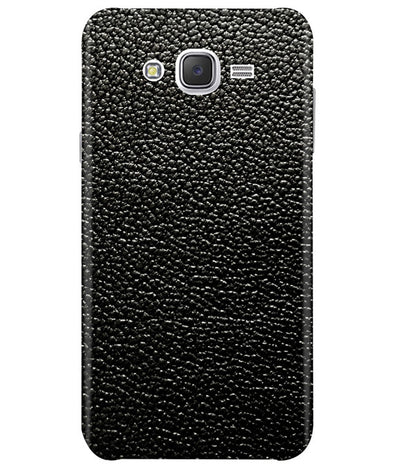 Black Leather Samsung J7 2015 Cover