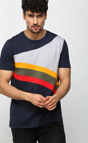 Rainbow Tee Shirt In Blue