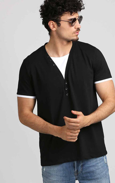 Round-Neck-Designer-White-and-Black-T-Shirt