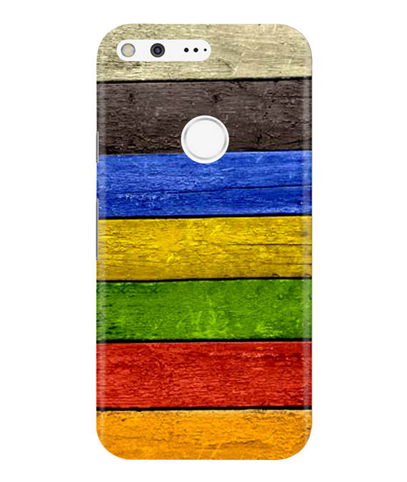 Coloured Wood Google Pixel Cover
