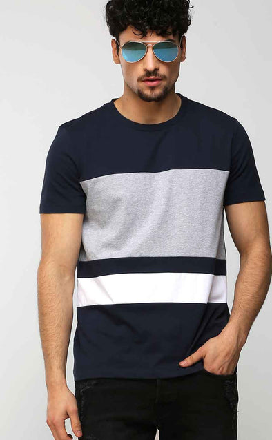 Small-And-Big-Stripe-Men's-T-Shirt
