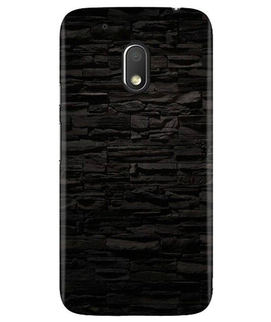 Black Stone Wall Moto G4 Play Cover