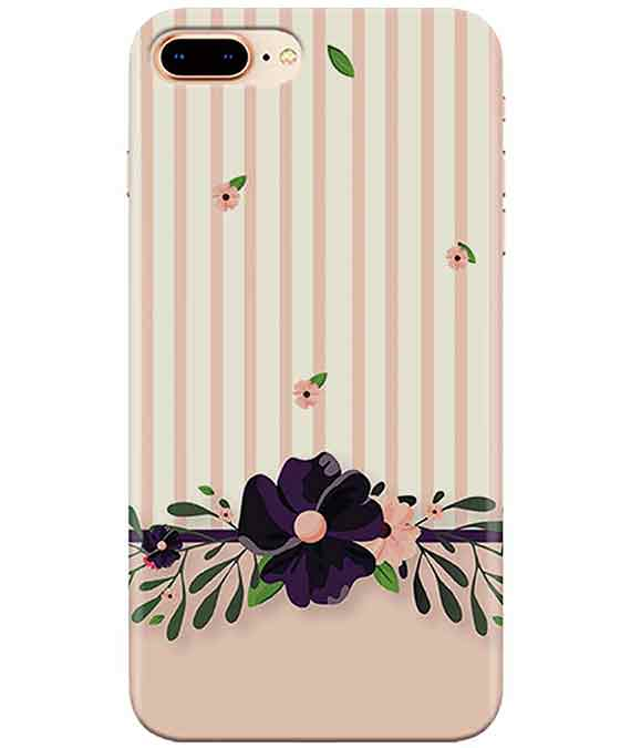 Violet Floral Iphone 7-PLUS Cover
