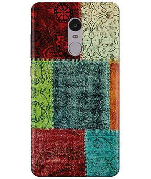 Multi-color Blocks Redmi Note  4 Cover