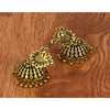 Peacock Styled Golden Jhumka