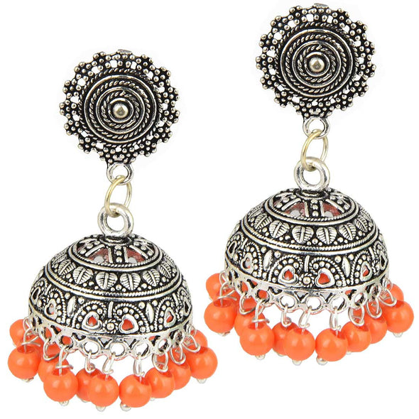 Oxidised Silver Orange Beads