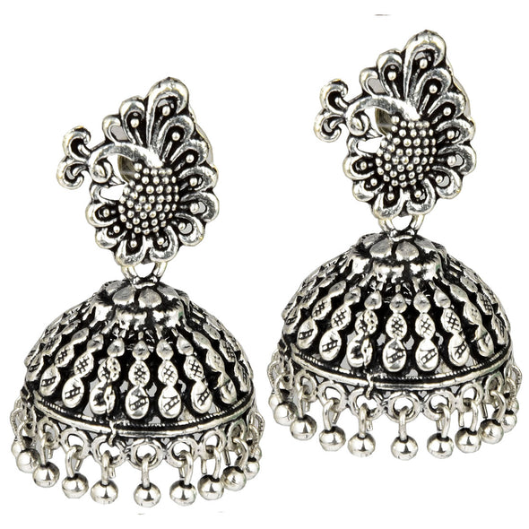 Peacock Styled Antique Jhumka