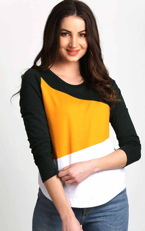 Women-Round-Neck-Full-Sleeve-Top-In-Color-Block