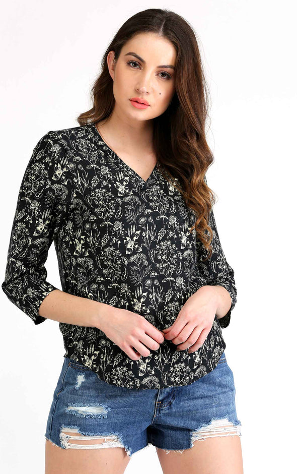 Floral full sleeve top for women