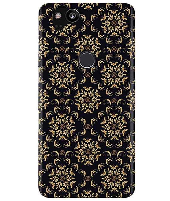 Black Cream Floral Google Pixel 2 Cover