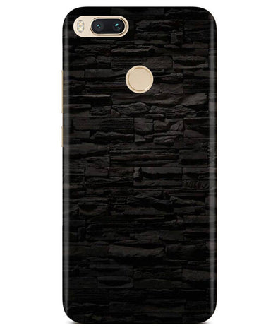 Black Stone Wall Redmi A1 Cover