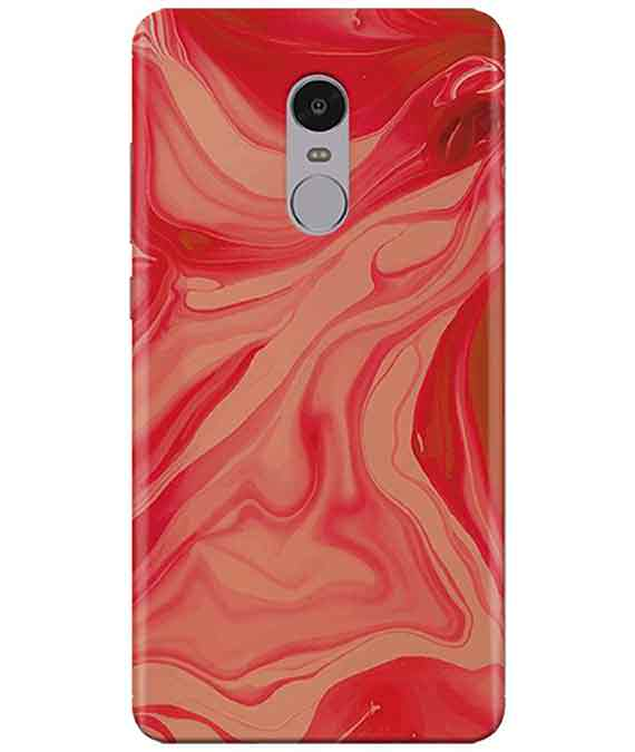 Liquify Red Marble Redmi Note  4 Cover
