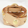 Beige Fashion Leather Bracelet Watch For Girls- Aelo