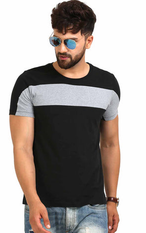 Black And Grey Men's T Shirt