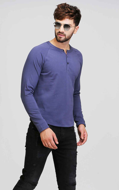 Blue Reglan Full Sleeve T Shirt