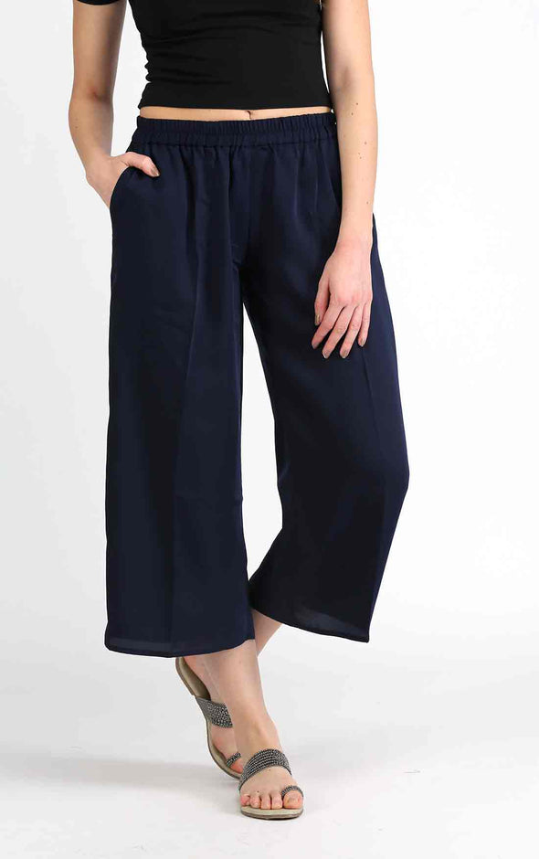 Navy Blue Loose Pants