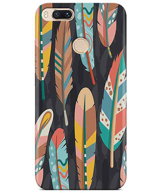 Colorful Feathers Redmi A1 Cover