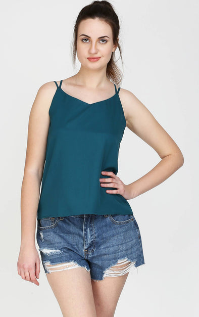 Cute V Neck Spaghetti Top