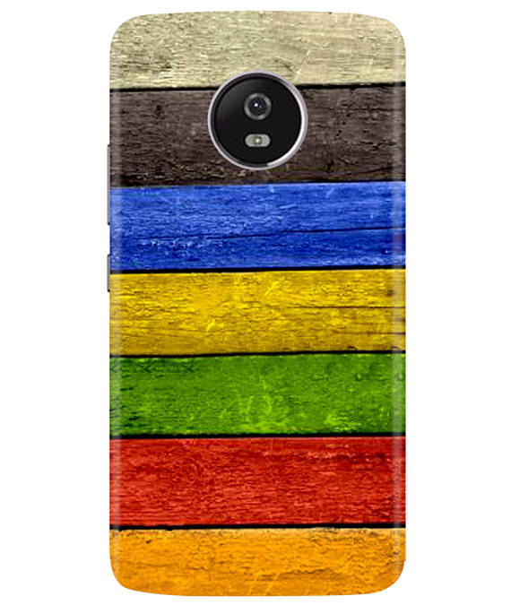 Coloured Wood Moto G5 Plus Cover