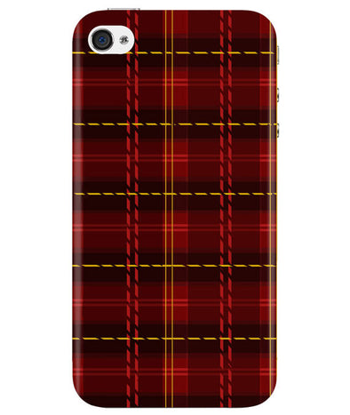 Check Fabric iPhONE 4 Cover