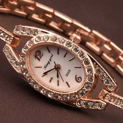 White Dial Rose Gold Women's Watch-WWW1001