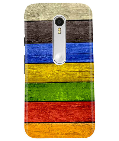 Coloured Wood Moto G3 Cover