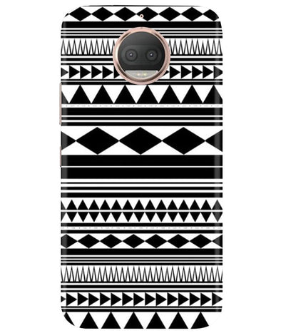 Just Black & White Moto G5 Plus Cover