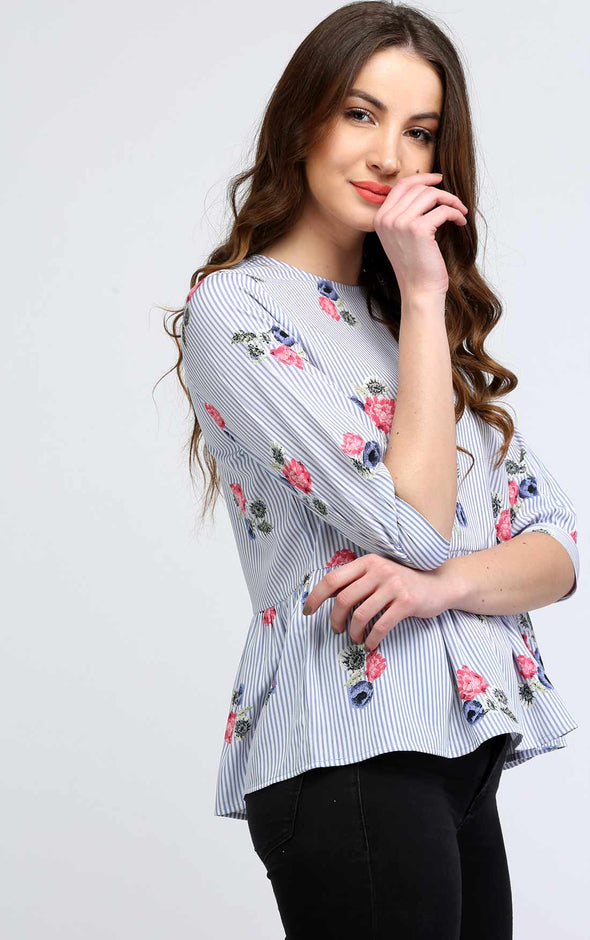 floral fancy top for women