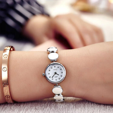 Girl's White Watch - Aelo