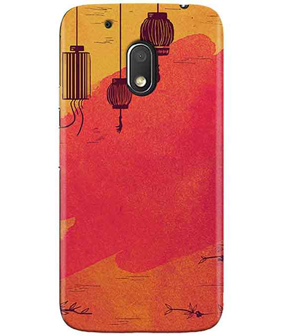 Warm Shades Lanterns MOTO G4 PLAY Cover