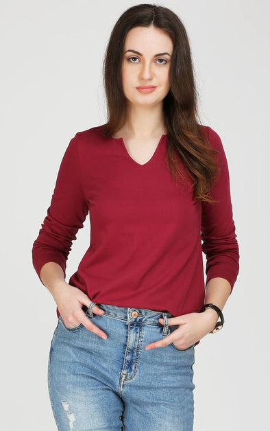 maroon women's t shirt