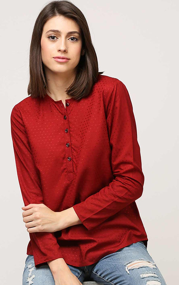 maroon-womens-top