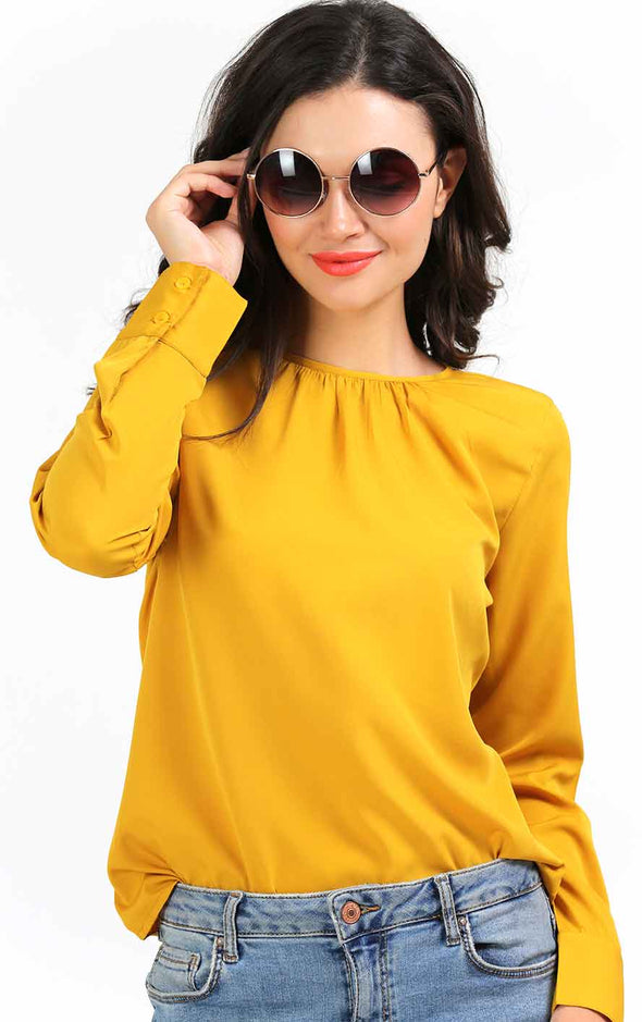 mustard-full-sleeve- top-for-women