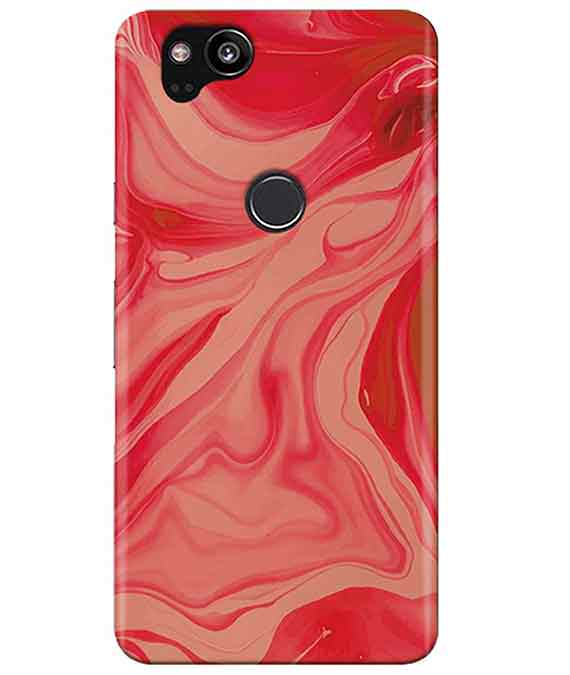 Liquify Red Marble Google Pixel 2 Cover