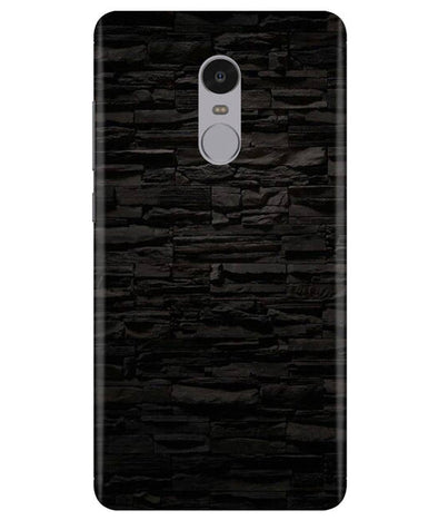 Black Stone Wall Redmi Note 4 Cover
