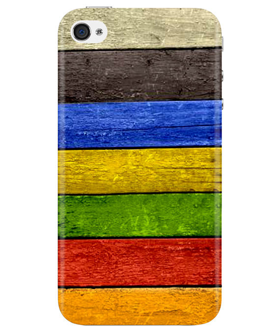 Coloured Wood iPhONE 4 Cover