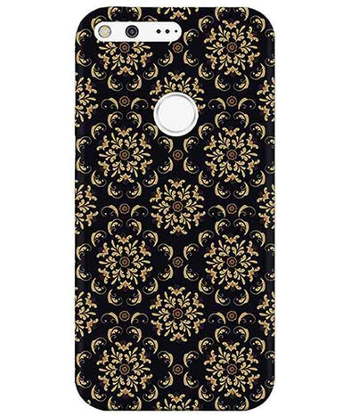 Black Cream Floral Google PixelCover
