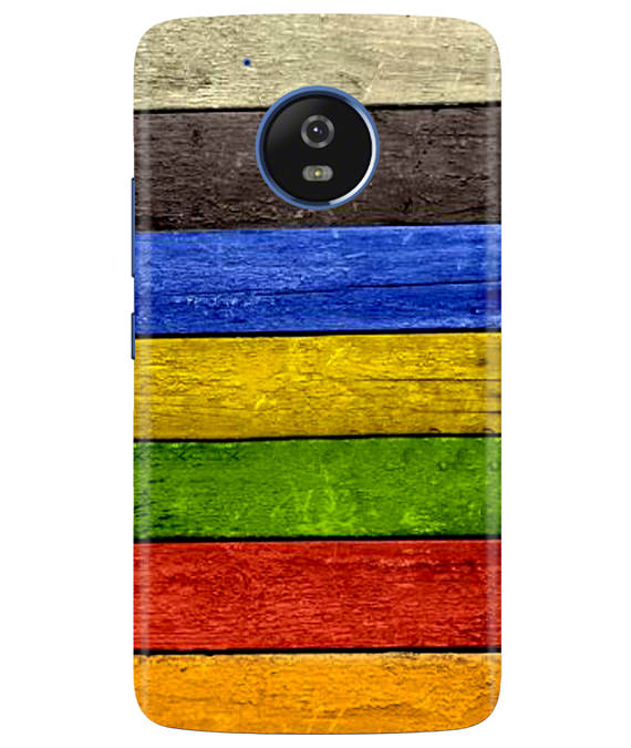 Coloured Wood Moto G5 Cover
