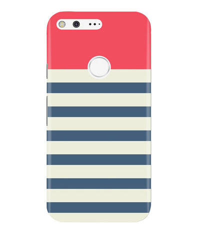Cream Stripes Google Pixel Cover