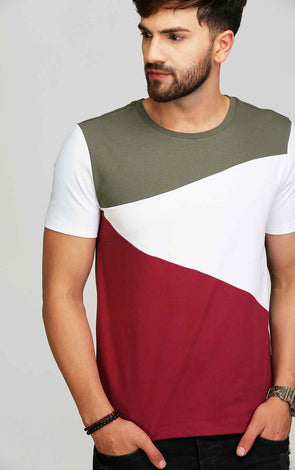 olive maroon men's t shirt