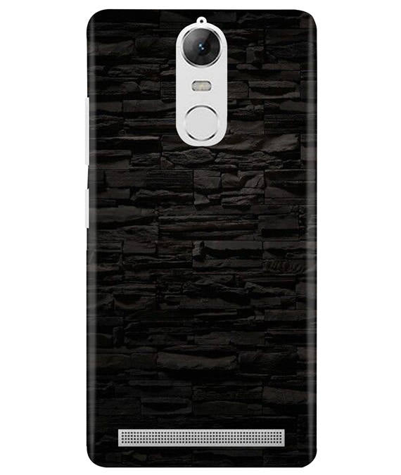 Black Stone Wall Lenovo K5 Note Cover
