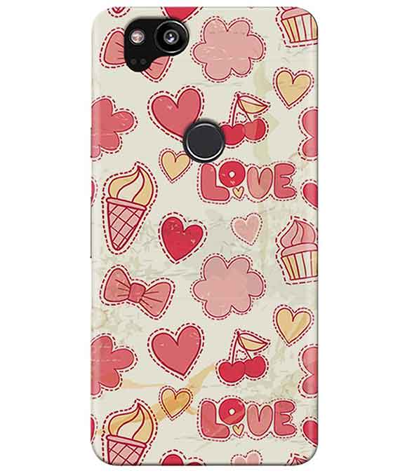 Girly Pink Google Pixel 2 Cover