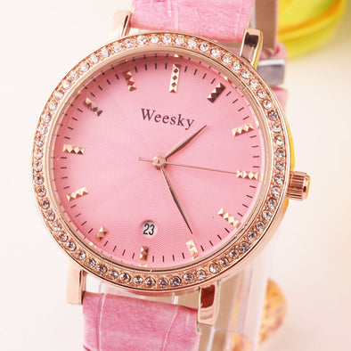 Pink And Rose Gold Watch For Girls