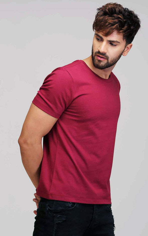 Basic T Shirt - Maroon